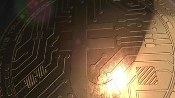 crypto currency target coin renderização em 3d blockchain