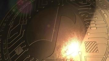 crypto currency musicoin coin renderização em 3d blockchain
