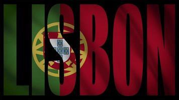 drapeau portugal avec masque de lisbonne video