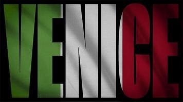 drapeau italie avec masque de venise video