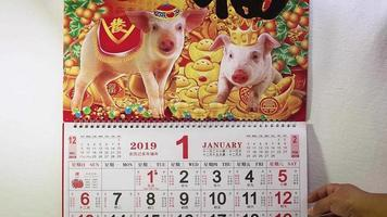 calendrier du nouvel an chinois cochon de terre video
