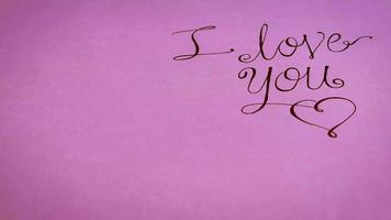 I Love You Lettering With Gifts On Pink Background