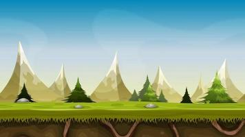 Seamless Mountains Landscape Animation