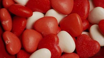 Rotating stock footage shot of Valentine's Day candy - VALENTINES 024 video