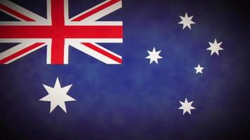 bucle de fondo de la bandera de australia con glitch fx video