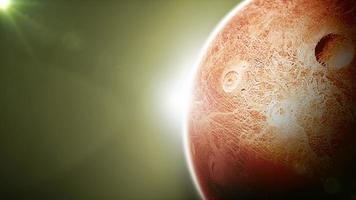 Alien Planet im Weltraum Hintergrund video
