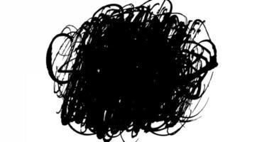 loop animado de textura de rabisco a tinta video