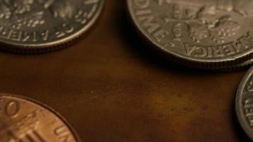 Imágenes de archivo giratorias tomadas de monedas monetarias estadounidenses - dinero 0328