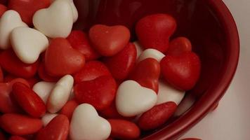 Rotating stock footage shot of Valentine's Day candy - VALENTINES 021 video