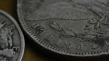 Imágenes de archivo giratorias tomadas de monedas americanas antiguas - dinero 0126