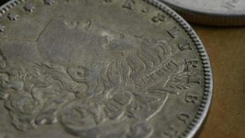 Imágenes de archivo giratorias tomadas de monedas americanas antiguas - dinero 0122