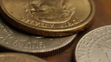 Imágenes de archivo giratorias tomadas de monedas monetarias estadounidenses - dinero 0356