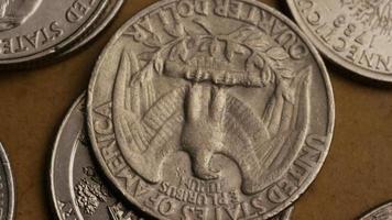 Imágenes de archivo giratorias tomadas de cuartos americanos (moneda - $ 0.25) - dinero 0238