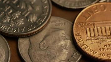 Imágenes de archivo giratorias tomadas de monedas monetarias americanas - dinero 0319