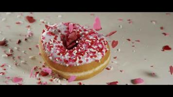 Valentines Doughnuts with Falling Sprinkles - DOUGHNUTS 016 video