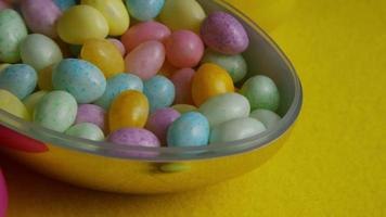 Rotating shot of colorful Easter jelly beans - EASTER 072