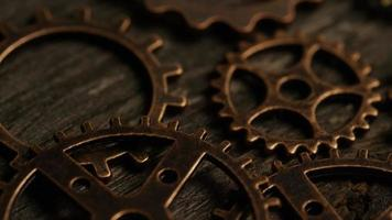rotação de imagens de estoque de mostradores de relógio antigos e resistidos - mostradores de relógio 038 video