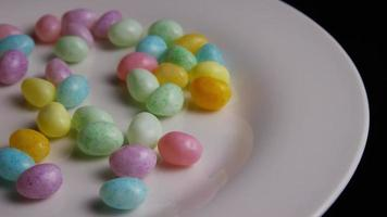 Rotating shot of colorful Easter jelly beans