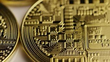 roterende opname van bitcoins (digitale cryptocurrency) - bitcoin 0148