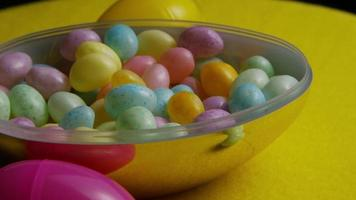 Rotating shot of colorful Easter jelly beans - EASTER 071