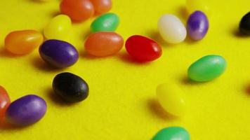 Rotating shot of colorful Easter jelly beans - EASTER 083
