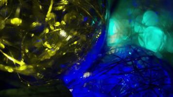 Plano cinematográfico y giratorio de luces navideñas ornamentales - navidad 040