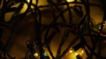Plano cinematográfico giratorio de luces navideñas ornamentales - navidad 052