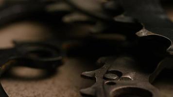 Cinematic, rotating shot of gears - GEARS 083 video