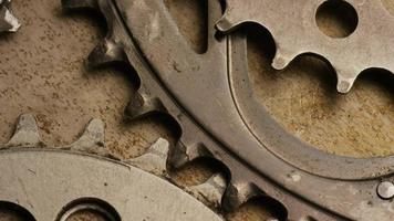 Cinematic, rotating shot of gears - GEARS 041 video