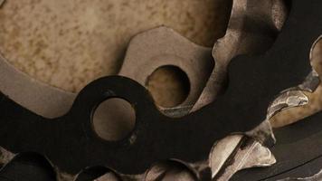 Cinematic, rotating shot of gears - GEARS 019 video