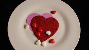 Imágenes de archivo giratorias tomadas de decoraciones y dulces de San Valentín - San Valentín 0095
