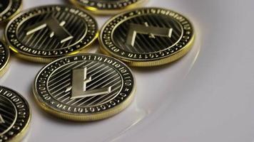colpo rotante di bitcoin litecoin (criptovaluta digitale) - bitcoin litecoin 0008