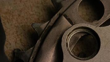 Cinematic, rotating shot of gears - GEARS 076 video