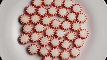 tiro giratorio de caramelos de menta - caramelo de menta 019 video