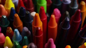 Tir rotatif de crayons de cire de couleur pour le dessin et l'artisanat - crayons 006