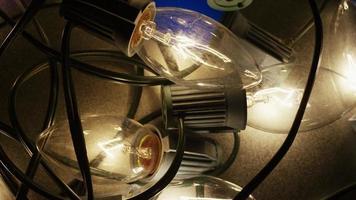 Plano cinematográfico y giratorio de luces navideñas ornamentales - navidad 018