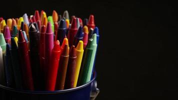 tiro giratório de giz de cera colorido para desenho e artesanato - giz de cera 001