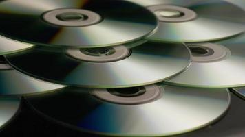 colpo rotante di compact disc - cd 041 video