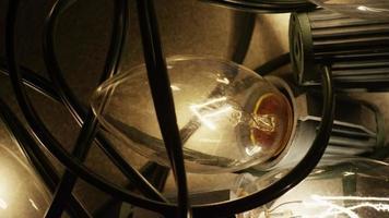 Plano cinematográfico y giratorio de luces navideñas ornamentales - navidad 019