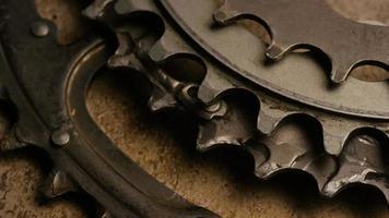 Cinematic, rotating shot of gears - GEARS 054 video
