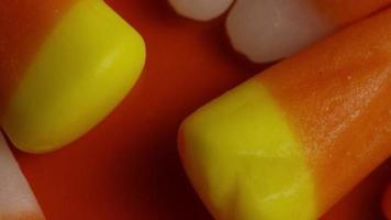 Rotating shot of Halloween candy corn - CANDY CORN 006
