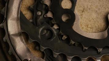 Cinematic, rotating shot of gears - GEARS 016 video