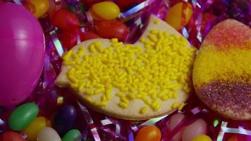 Cinematic, Rotating Shot of Easter Cookies on a Plate - COOKIES EASTER 020 video