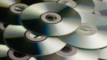 colpo rotante di compact disc - cd 038 video