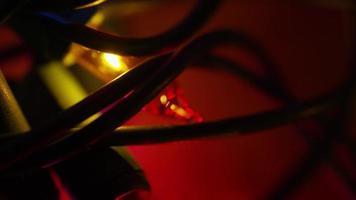 Plano cinematográfico y giratorio de luces navideñas ornamentales - Navidad 015