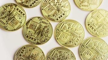 Tiro giratorio de bitcoins (criptomoneda digital) - bitcoin 0135
