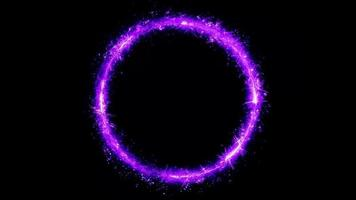 Abstract Magic Fairy Colored Circle Spinning Loop video