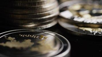 Tir rotatif de bitcoins (crypto-monnaie numérique) - ondulation de bitcoin 0216 video