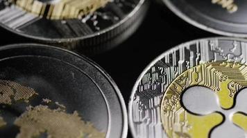 rotierende Aufnahme von Bitcoins (digitale Kryptowährung) - Bitcoin-Welligkeit 0169