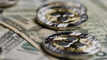 Tir rotatif de bitcoins (crypto-monnaie numérique) - ondulation de bitcoin 0254 video